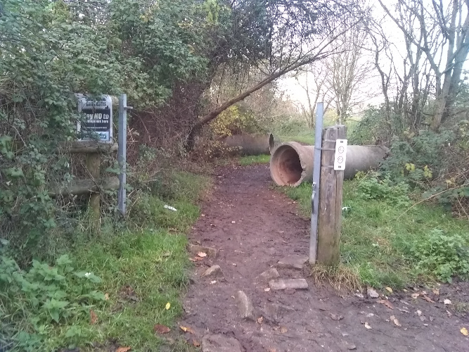 Picture of entrance to Dog Bark Lane