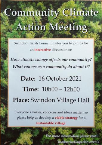 Poster for the climate change meeting